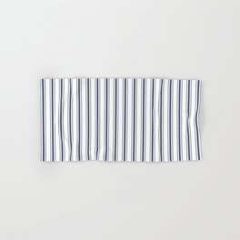 Dark Sargasso Blue Mattress Ticking Wide Striped Pattern - Fall Fashion 2018 Hand & Bath Towel