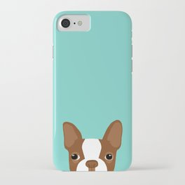 Red Boston Terrier iPhone Case