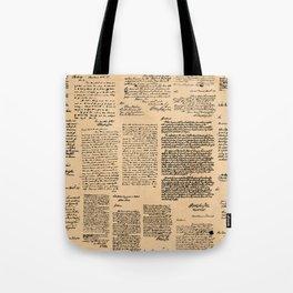 George Washington's Letters // Dark Paper Tote Bag
