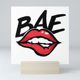 Before anyone else bae kiss lips hot Mini Art Print
