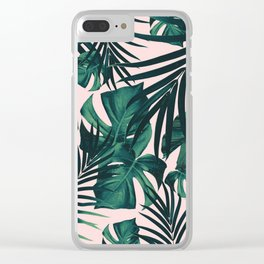 Tropical Jungle Leaves Pattern #5 #tropical #decor #art #society6 Clear iPhone Case