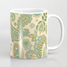 Yellow Paisley Coffee Mug