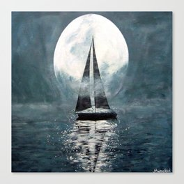 Sail Me To The Moon Canvas Print