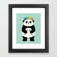 Be Brave Panda Framed Art Print