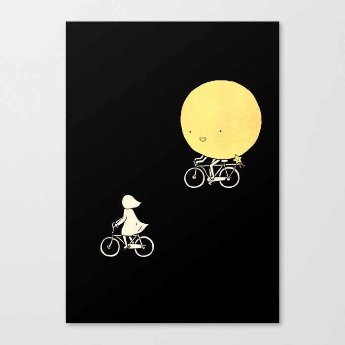 The moon and me Canvas Print