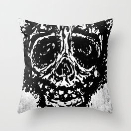 """Sticky Skull"" Throw Pillow"
