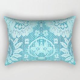 Blue Lace Rectangular Pillow
