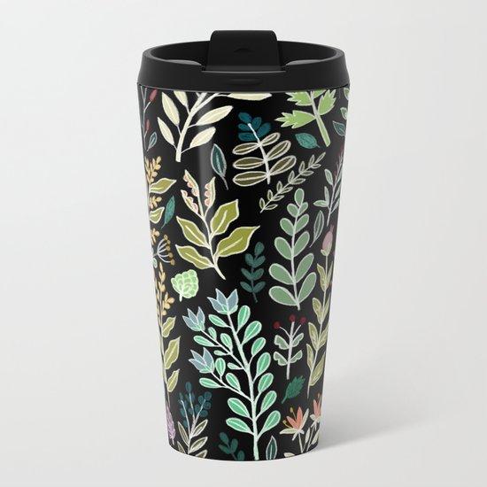 Dark Botanic Metal Travel Mug