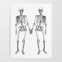 Two skeletons Poster