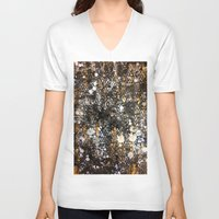 black and gold V-neck T-shirts featuring Black Gold by Tyler Resty