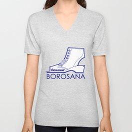 Borosana Borovo -  white nostalgic ortopedic shoe from Yugoslavia Unisex V-Neck