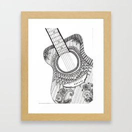 Guitar Solo Framed Art Print