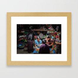 Sololá Market in Guatemala Framed Art Print