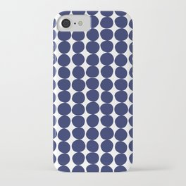 Midcentury Modern Dots Navy iPhone Case