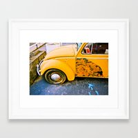 volkswagon Framed Art Prints featuring vintage vw and door art by robertbuttery