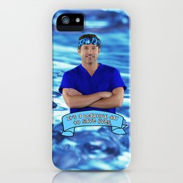 Derek Shepherd- Its a beautiful day to save lives iPhone Case