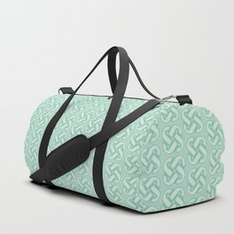 Celtic Knot Pattern in Green Duffle Bag