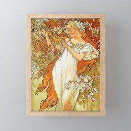 Alphonse Mucha Spring 1896 Framed Mini Art Print
