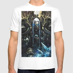king of death White Mens Fitted Tee MEDIUM