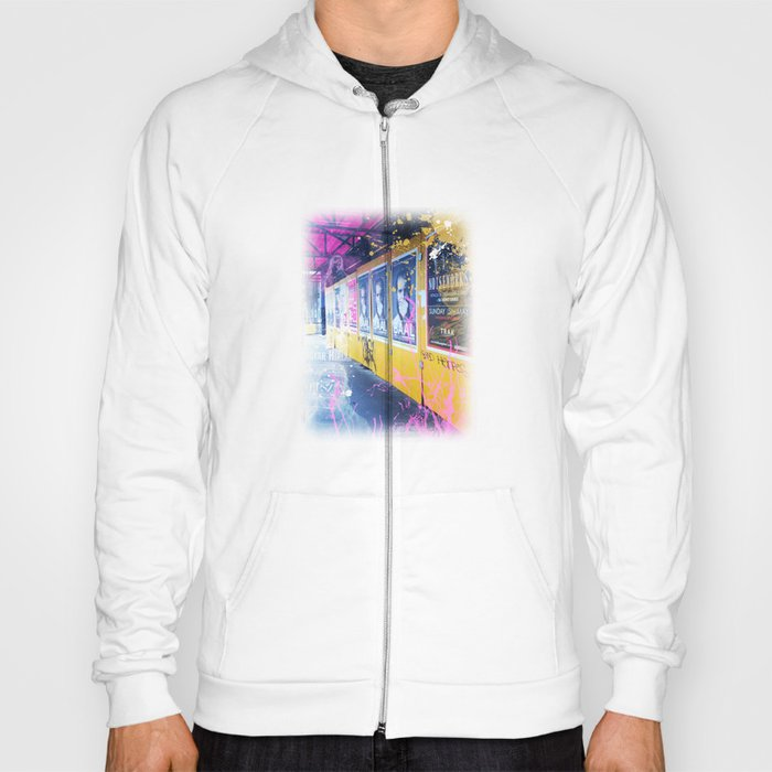 purple and yellow _  little burke graffiti Hoody