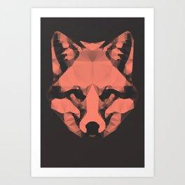 Geo - Fox  Art Print