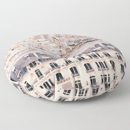 A Fantastic View of Paris from the Rooftops Floor Pillow