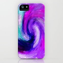 lilic swirl iPhone Case