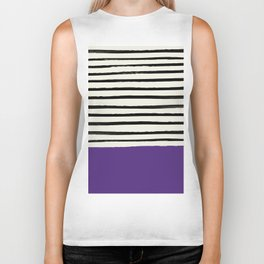 Purple Grape x Stripes Biker Tank