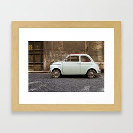 Roma Fiat 500 Framed Art Print