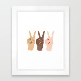 Peace Hands Framed Art Print