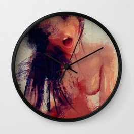 Woman On Top Wall Clock