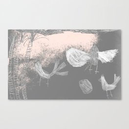 Free Willywagtails Canvas Print