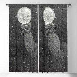 Around The Moon- Emile Antoine Bayard Blackout Curtain