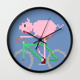 piggy bike  Wall Clock