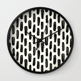Ivory Vertical Dash Wall Clock