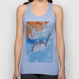 Shark Watch Unisex Tank Top