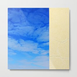 Urban nature, blue sky abstract print Metal Print