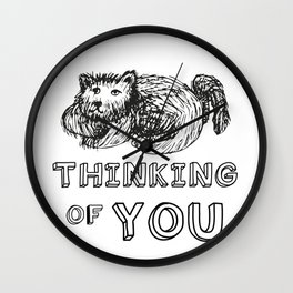 dogs think of you Wall Clock