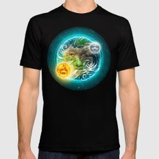 The Earth Black Mens Fitted Tee MEDIUM