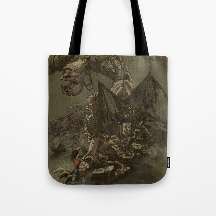 Junkyard Dragon  Tote Bag