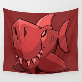 Shark - Chile Oil Red Wall Tapestry