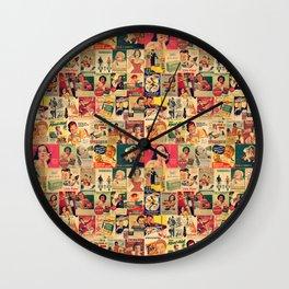 Retro Ads Wall Clock