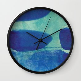 Blue Lyric 1 Wall Clock