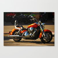moto Canvas Prints featuring MOTO by KimberlySS