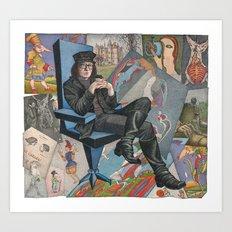 Etching (portrait) - Mihail Chemiakin Art Print