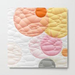 Orange Sherbet Circle Quilt Pattern Metal Print