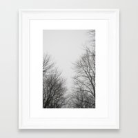 gray Framed Art Prints featuring Gray by Diana Mutino