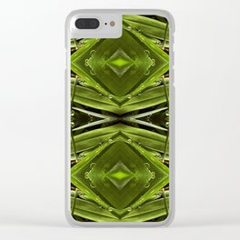 Dew Drop Jewels on Summer Green Grass Clear iPhone Case
