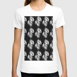 Palm Leaves Pattern #9 #White #Black #decor #art #society6 T-shirt