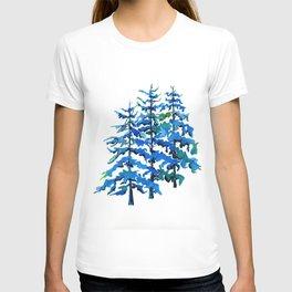Blue Pine Trees T-shirt